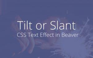 Tilt Text CSS effect
