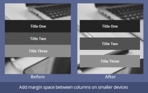 Margin space between columns on mobile layout in beaver builder