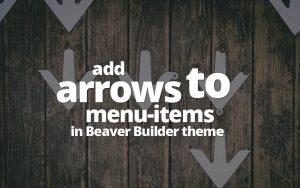 arrows icon to menu items beaver theme