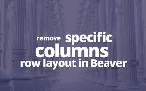 Beaver Columns layout