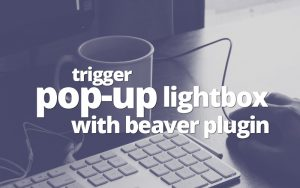 Open lightbox popup