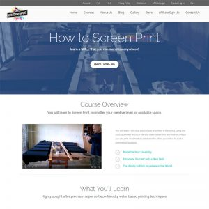 showcase how to screen print
