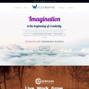 showcase werle creative website