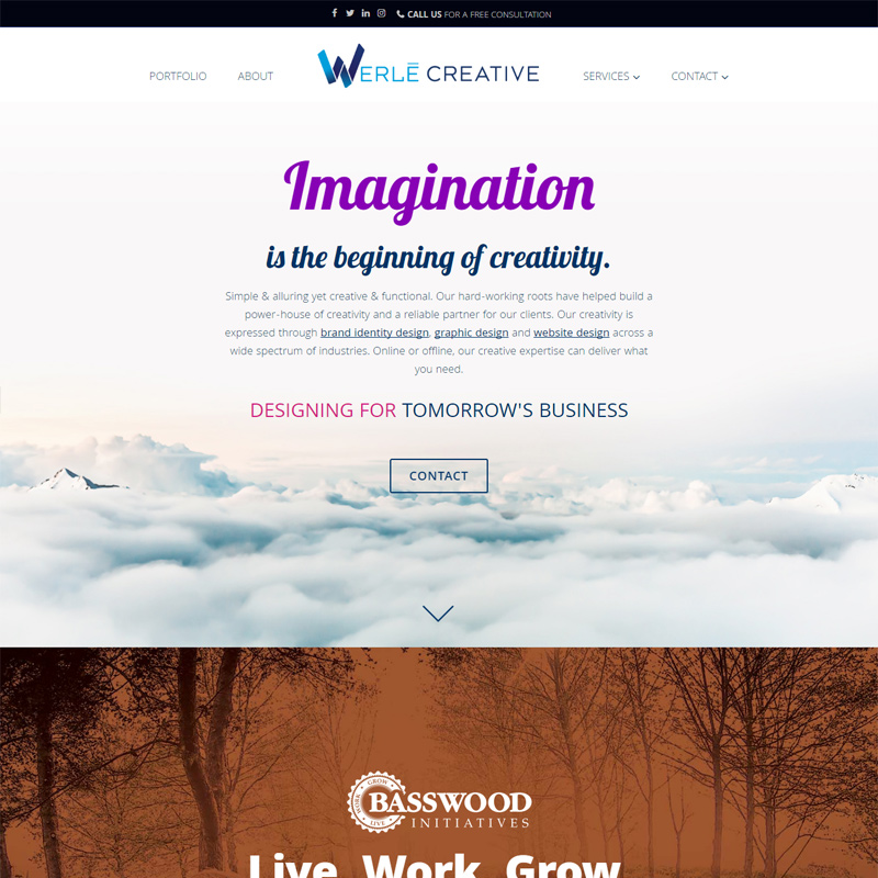 showcase werle creative website