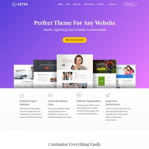 Astra WordPress Theme Website