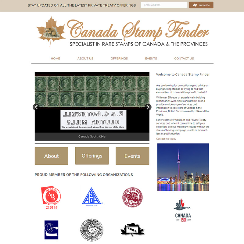 Canada Stamp Finder