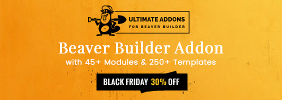 Ultimate Beaver UABB plugin Black Friday 2017 discount
