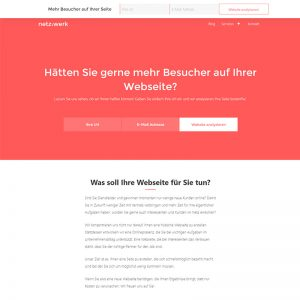 netz werk website